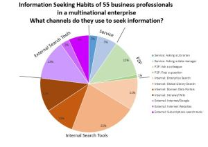 Information Seeking Channels Pie Chart